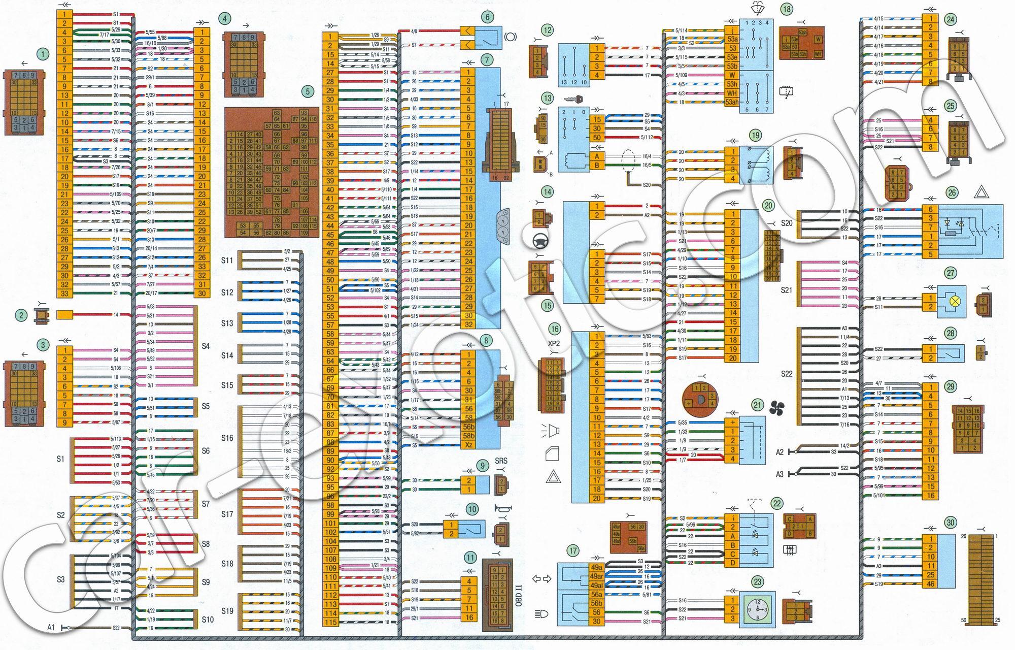 h схемы электрооборудования автомобиля лада приора