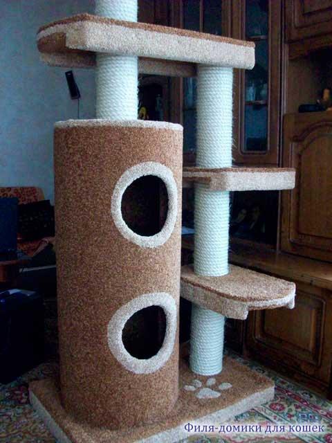 Игровой комплекс для кошек своими руками фото с размерами